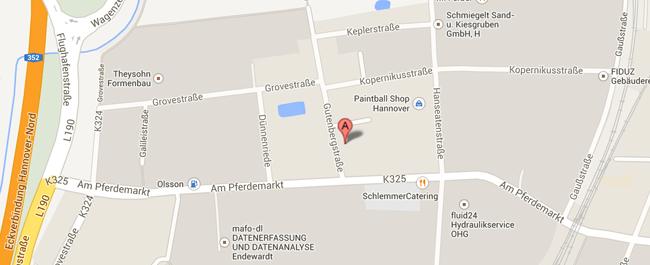 Veranstaltungsagentur Trend Line Eventhouse GmbH Hannover-Langenhagen Karte