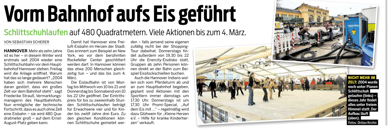 Eisfläche Hauptbahnhof